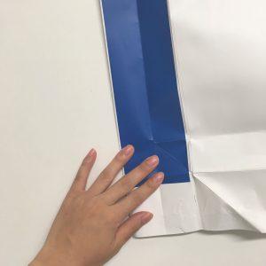 紙袋分解中の写真です(6)