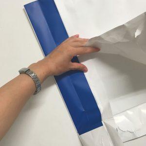 紙袋分解中の写真です(7)