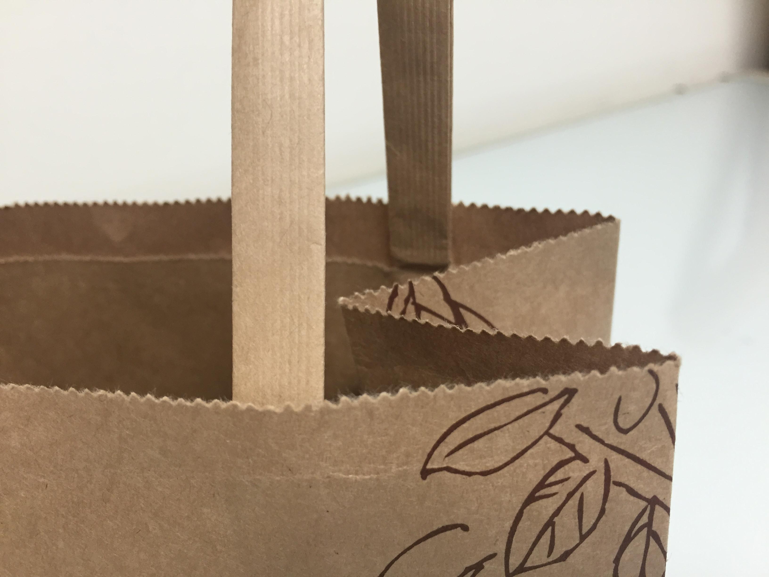 紙袋 口の部分がギザギザなのはなぜ?