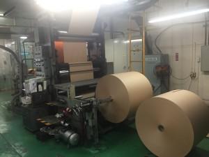 輪転式紙袋工場