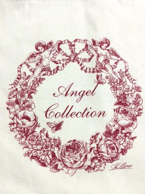 エコバッグ製作事例/細かい絵柄のシルク印刷【Angel Collection 様】