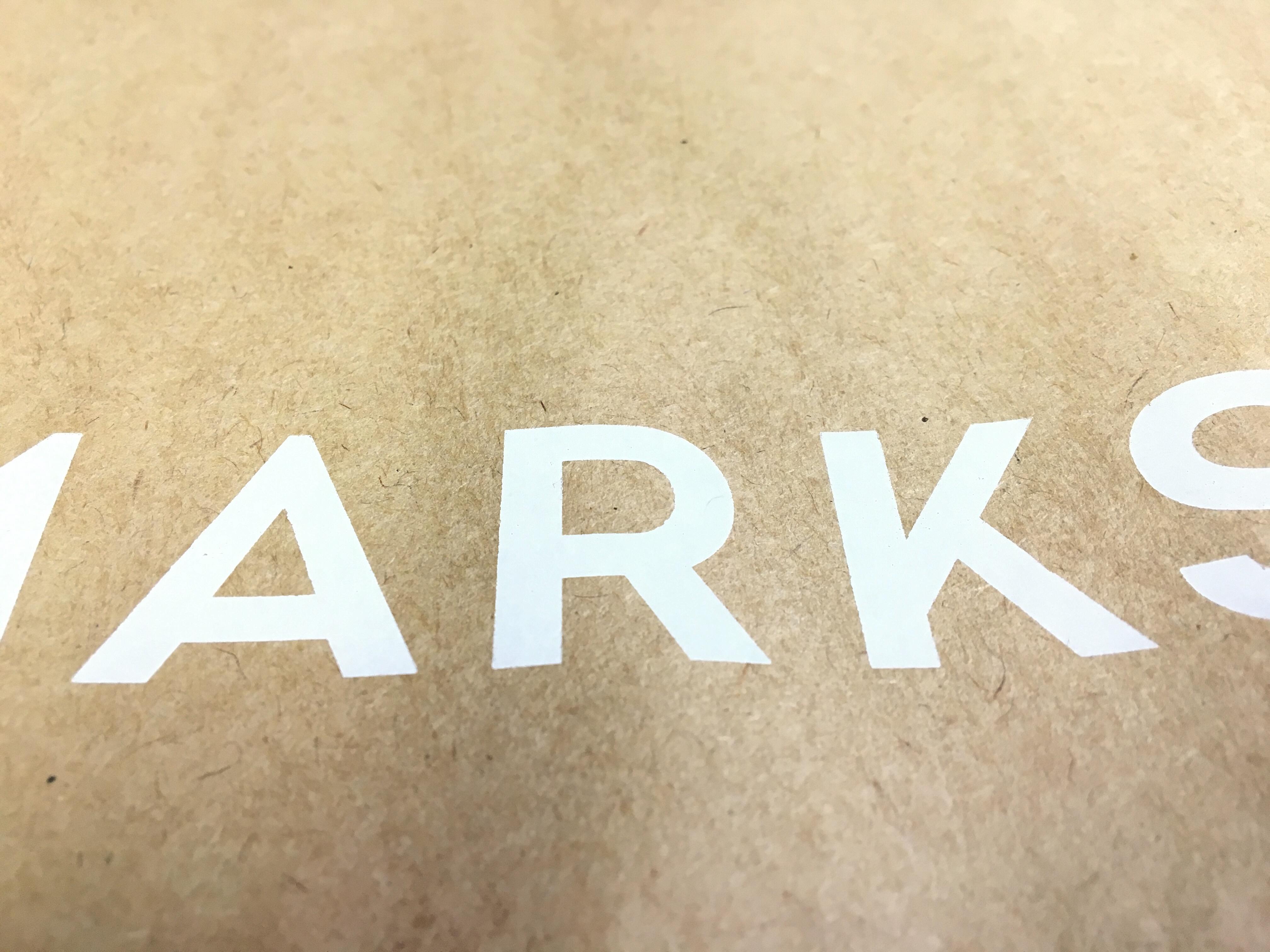<オリジナル紙袋>白印刷と白箔について