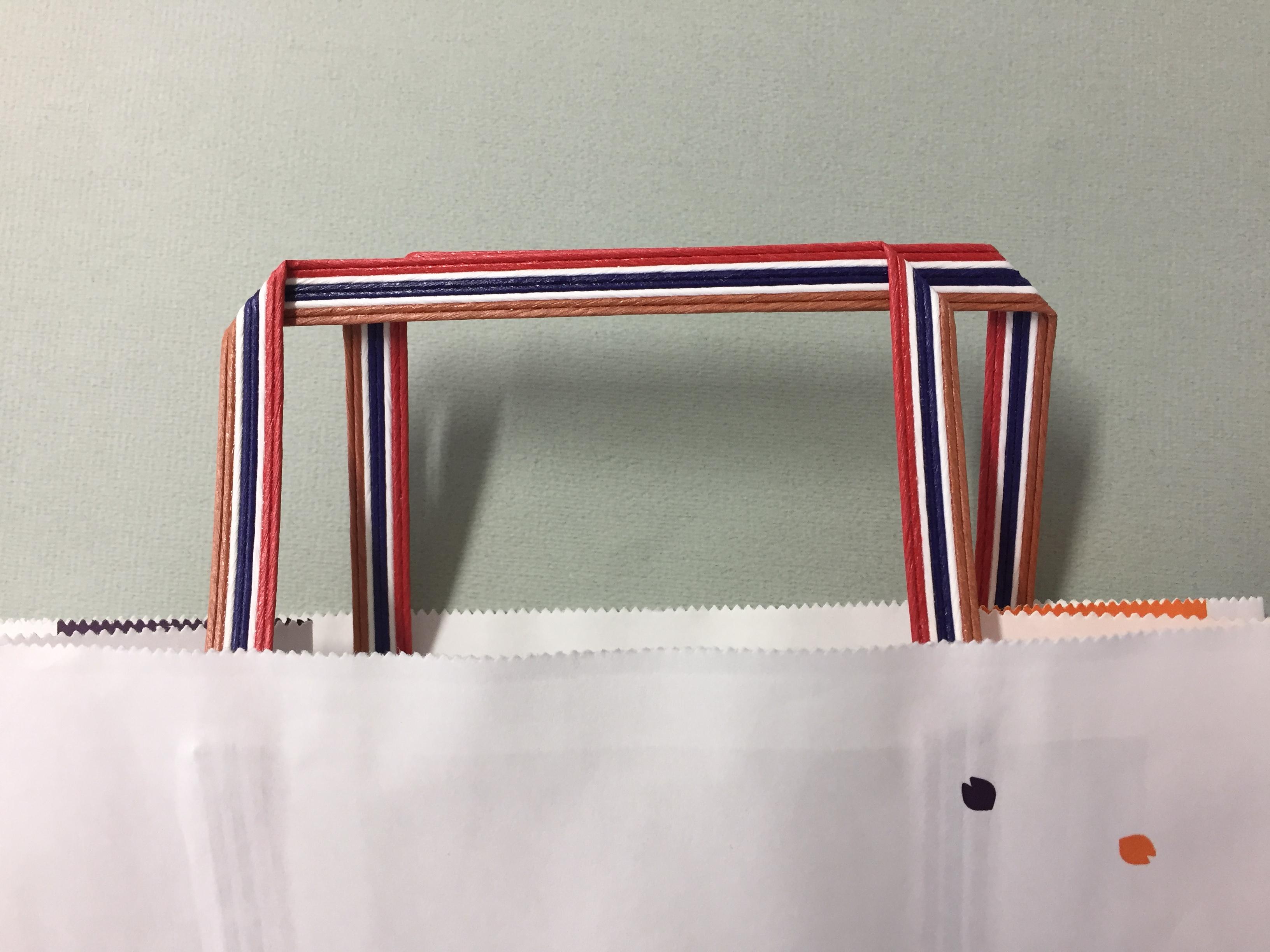 オリジナル紙袋、ショッパーの持ち手 こんなこともできます!